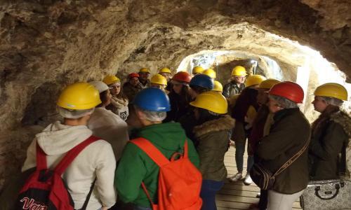 Visita a los túneles de la Guerra Civil en Cuenca